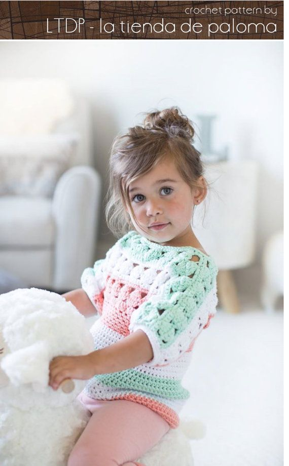 Crochet Tunic Pattern Baby to Child - Amelia Crochet Tunic Pattern ...