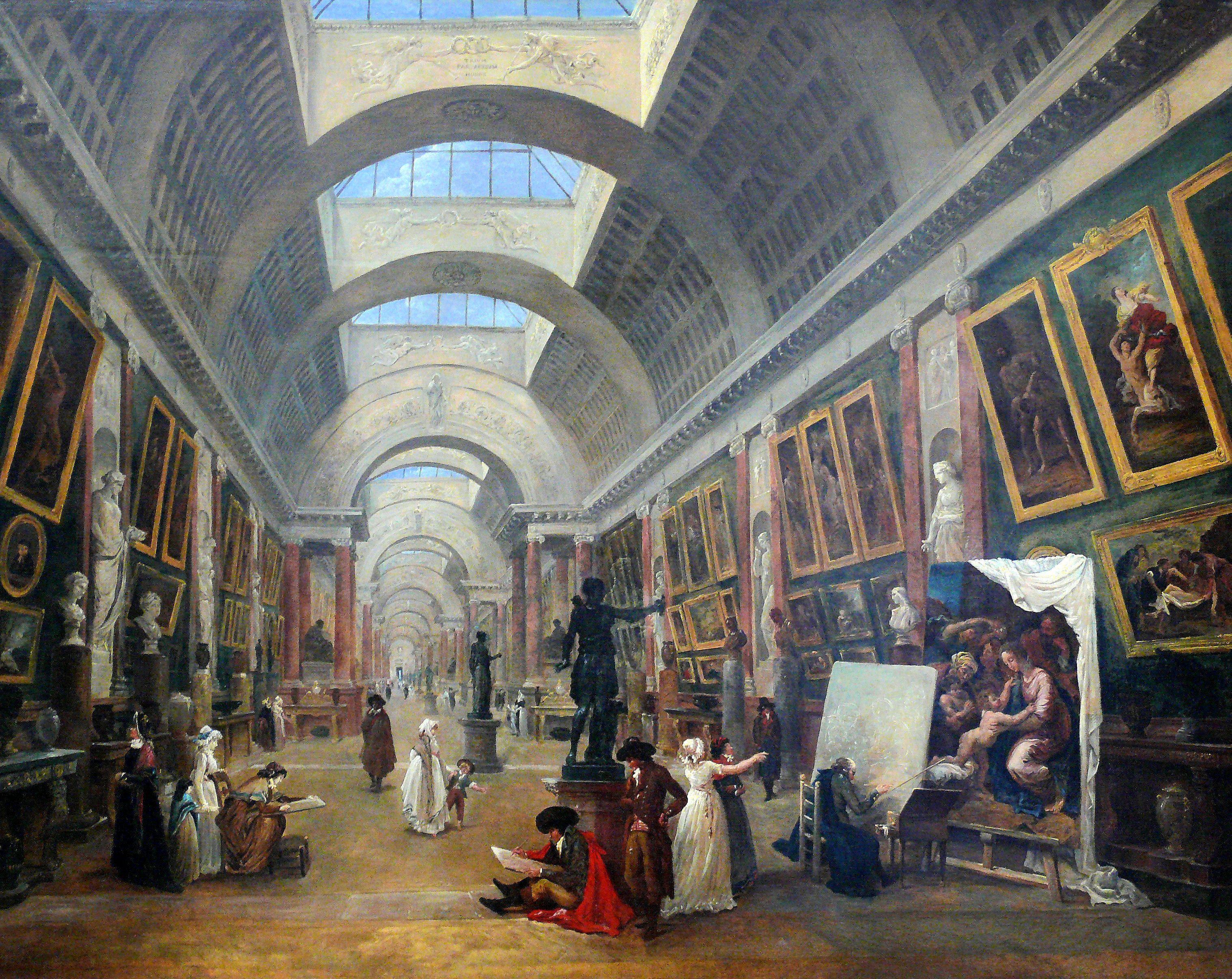 Hubert Robert, Projet d\'aménagement de la Grande Galerie du Louvre ...