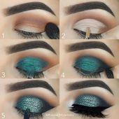 25+> Tutorial paso a paso de maquillaje de cielo azul. Tutorial de maquillaje de… – Simple eye makeup