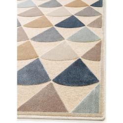 benuta Naturals Viskoseteppich Woody Multicolor/Beige 200×300 cm – Moderner Bunter Teppich für Wohnz