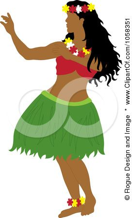 royalty free vector clip art illustration of a hawaiian hula dancer rh pinterest com Luau Clip Art hula dancer clip art free