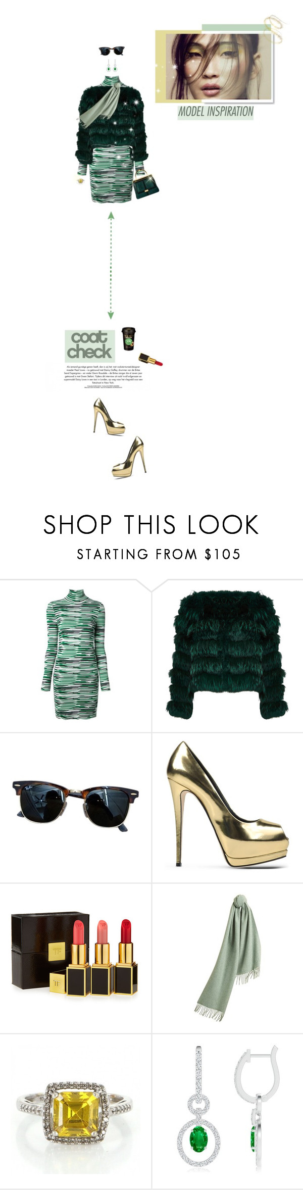 """""""Merry Christmas:Rockin the Green & Gold! ♥"""" by prettynposh2 ❤ liked on Polyvore featuring STELLA McCARTNEY, Alice + Olivia, Balmain, Ray-Ban, Caffé, Giuseppe Zanotti, Tom Ford, Burberry, GREEN and aliceandolivia"""