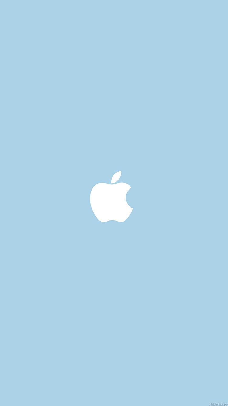va12applesimplelogoblueminimal Apple wallpaper