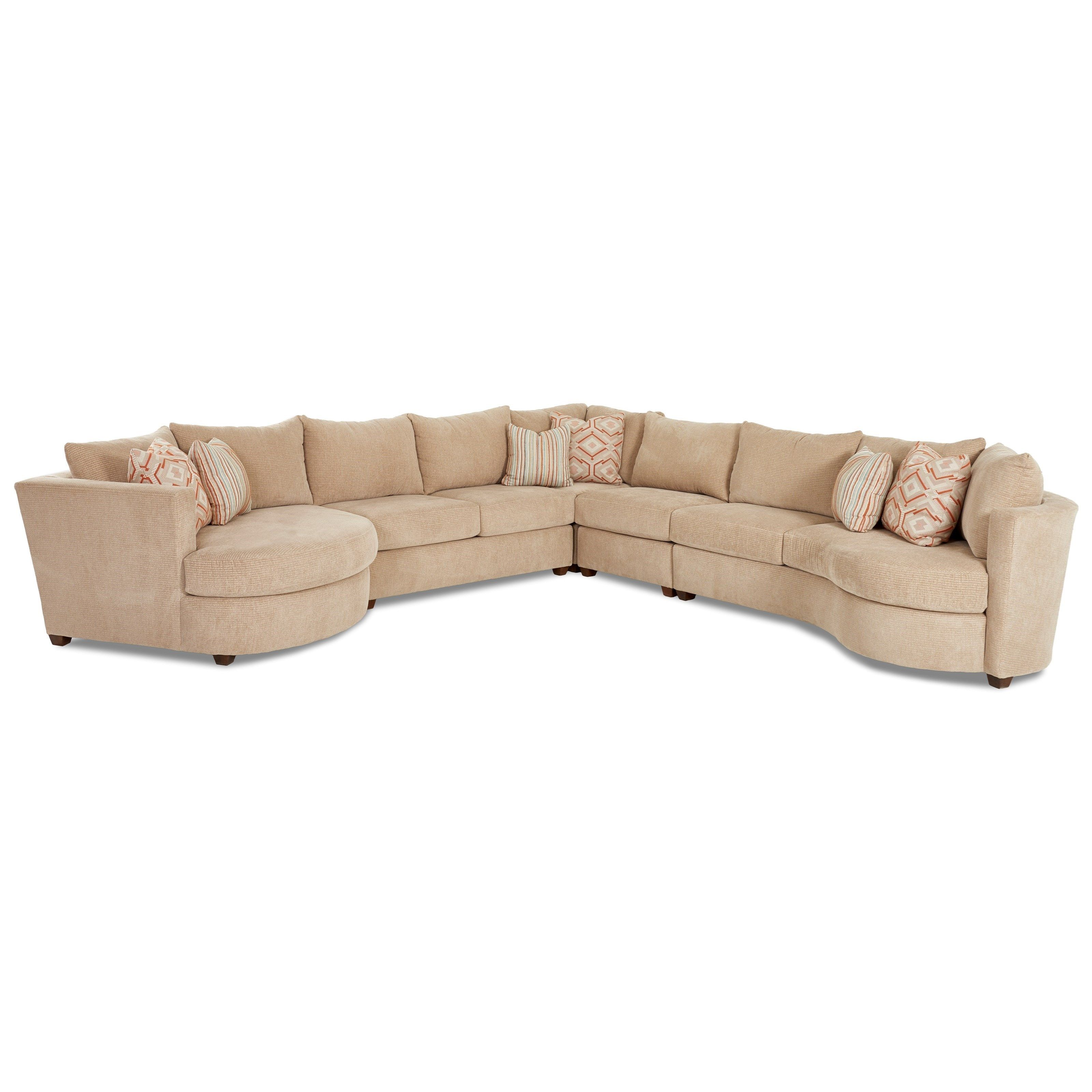 Klaussner LIA Contemporary 5 Piece Sectional With Left Arm Facing Cuddler   John  V Schultz Furniture