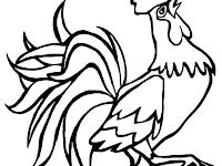 Mewarnai Gambar Hewan Ayam Jago Coloring Tribal Tattoos Farm