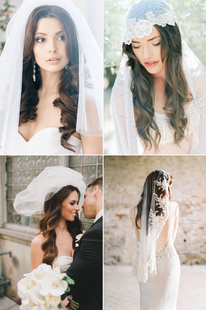 Chic Bridal Hairstyles that Look Good with Veils! - Praise Wedding