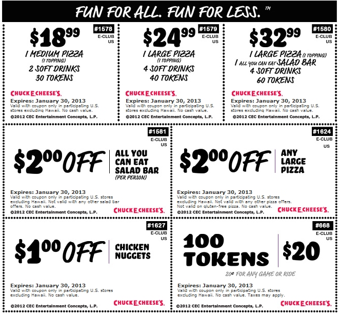 100 Tokens For 20 Bucks And More At Chuck E Cheese Pizza Coupon Via The Coupons App Free Printable Coupons Printable Coupons Coupon Apps