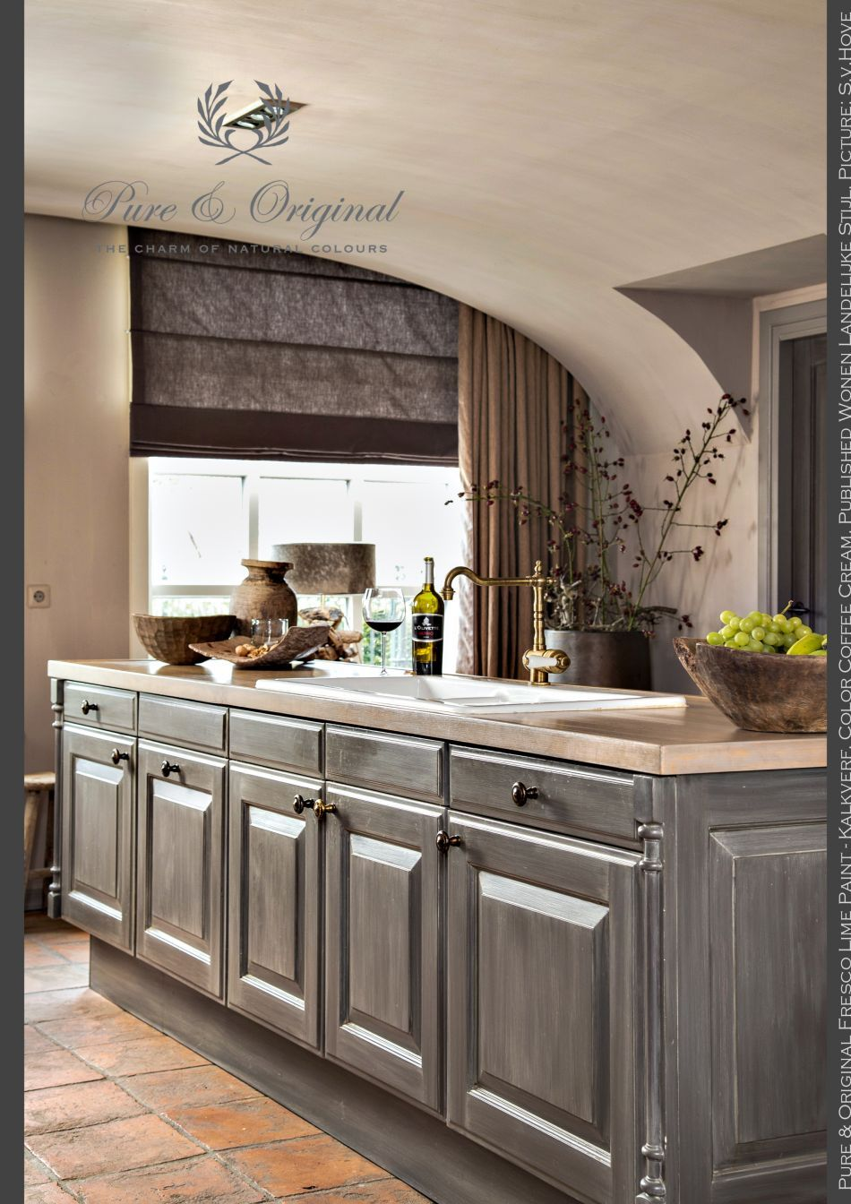 Love the color of the cabinets. Fresco Lime Paint - Kalkverf in the ...