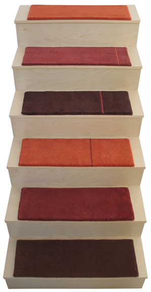 Delightful Alto Stair Tread Rugs   Love These Colours
