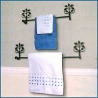 Crafted Of Durable Wrought Iron With A Smooth Black Powder Coated Satin  Finish... Bathroom Towel BarsSatin ...