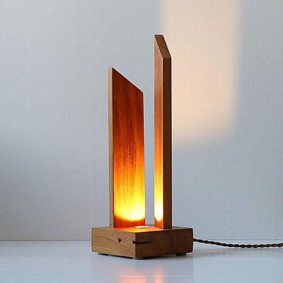 Aoraki Led Table Lamp Modern Table Lamp Wooden Lamp Contemporary Lamp 12volt Made From Recla Abajur De Madeira Luminarias Modernas Design De Lampadas