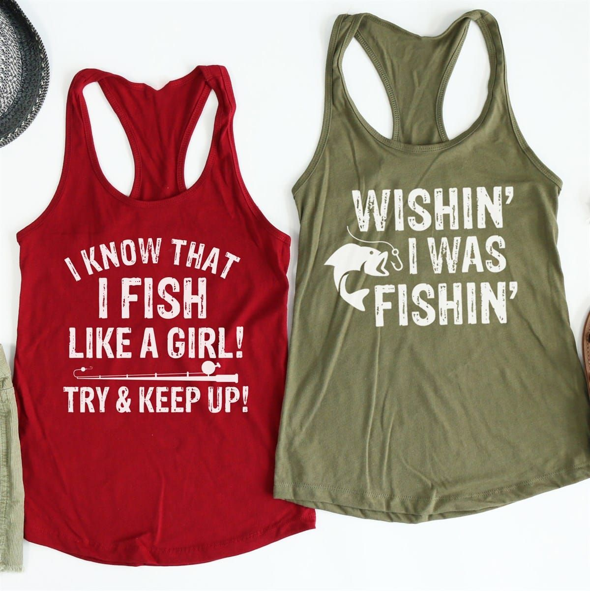 Fishing Tanks Collection Fishing Tank Athletic Tank Tops Girls Be Like