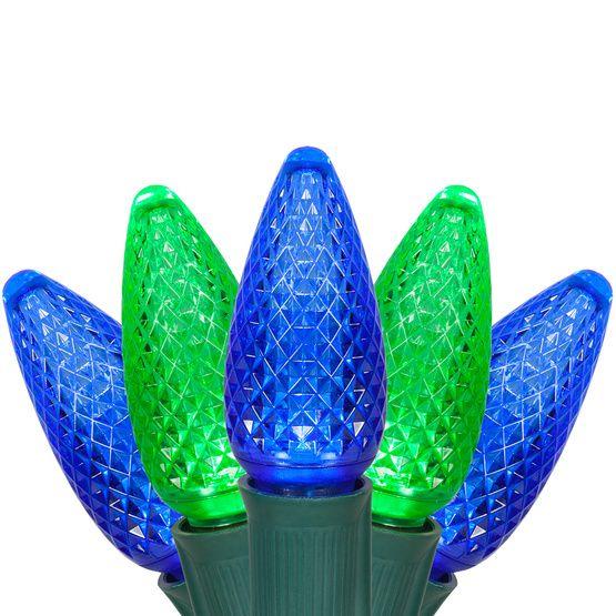 c9 blue green commercial led christmas lights - Blue And Green Christmas Lights