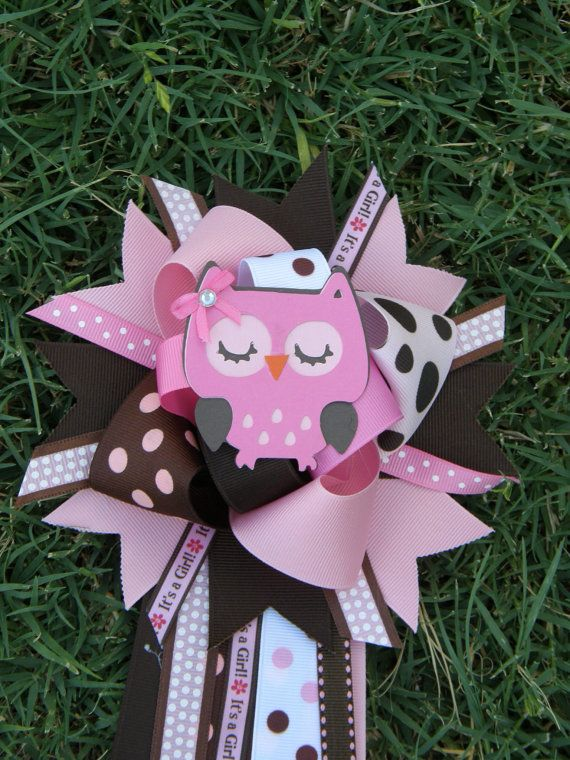Owl Baby Shower Theme Baby Shower Mum Corsage On Etsy 16 99