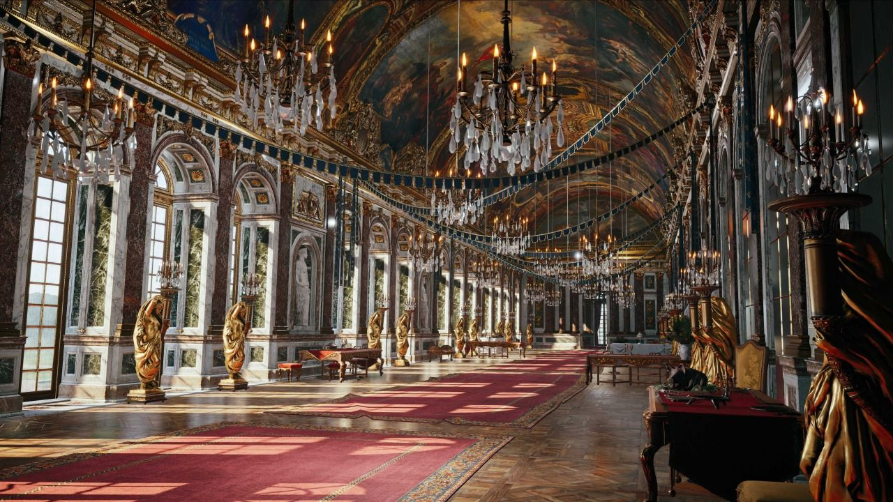 The Hall Of Mirrors Of Versailles In Assassin S Creed Unity Rpg