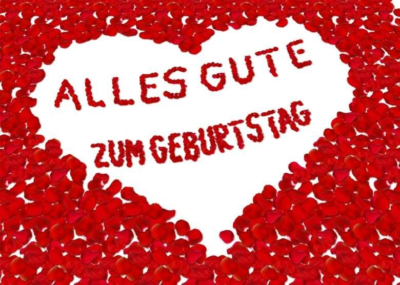 Bild Mit Vielen Roten Herzen Alles Gute Zum Geburtstag Mit