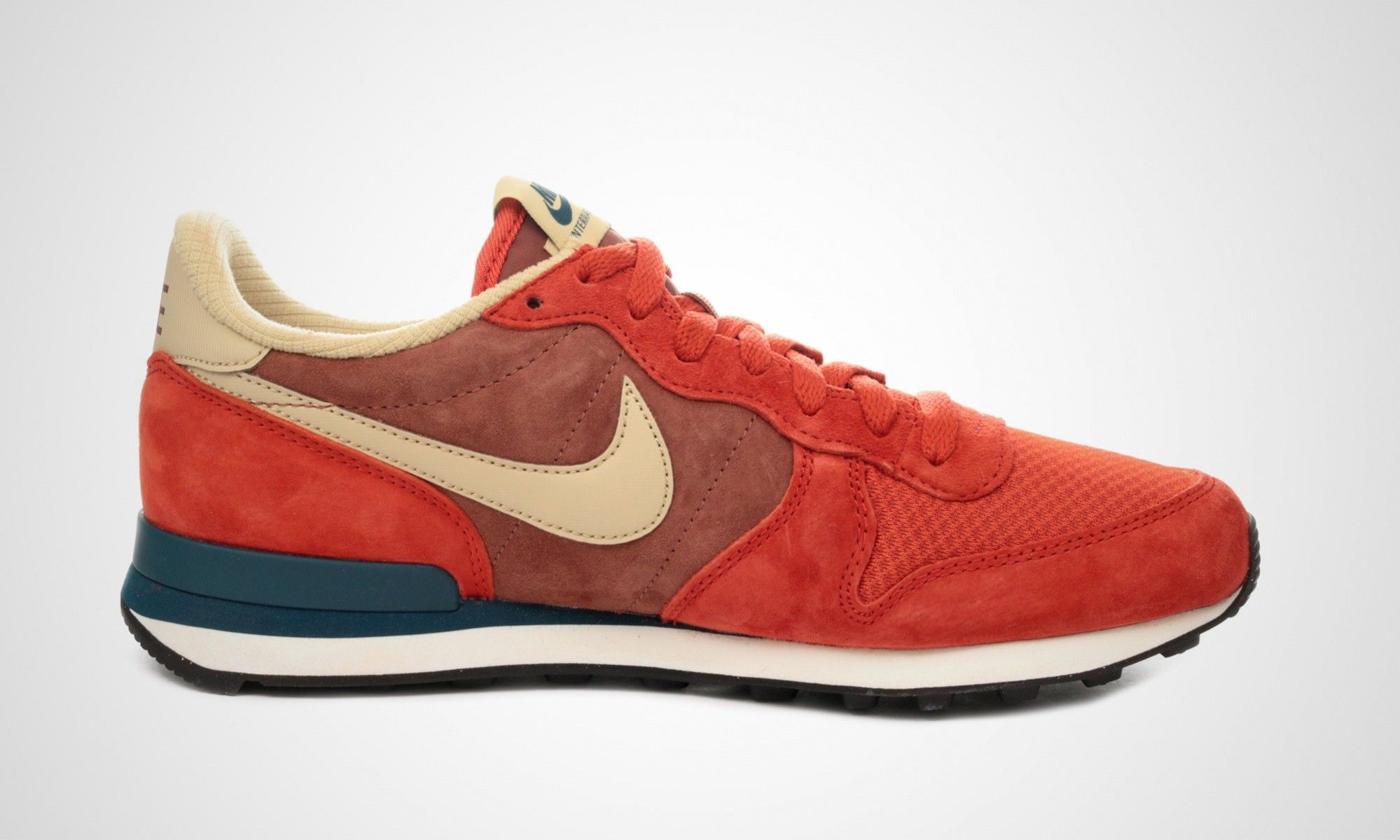 78628a57713 Hombre Zapatillas Nike Internationalist Leather Rojo Arena Duna óxido  Factor Azul 631755-203
