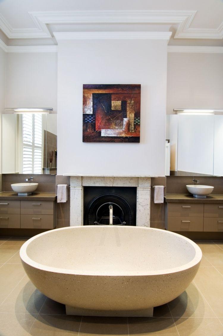 Perfekt #badezimmer Doppelwaschtisch Mit Aufsatzbecken U2013 50 Moderne Sets  #Doppelwaschtisch #mit #Aufsatzbecken #