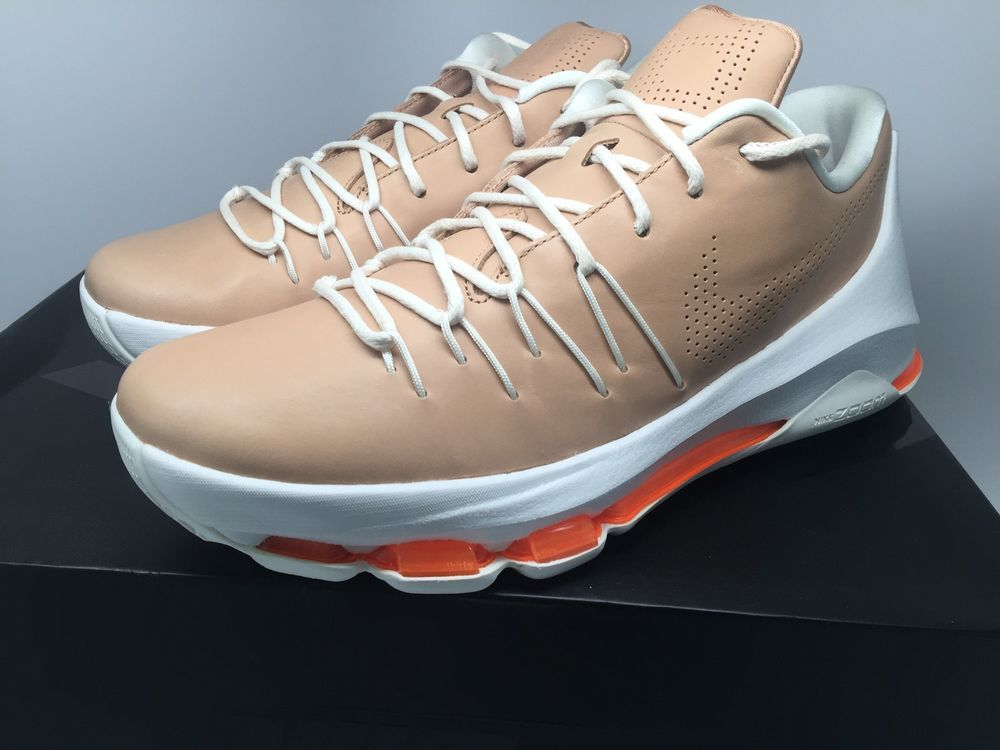"""409d8f79c638 Mens Nike KD 8 EXT """"Vachetta"""" 806393-200 Vachetta Tan Sail  Total Orange  size 10  Nike  BasketballShoes"""