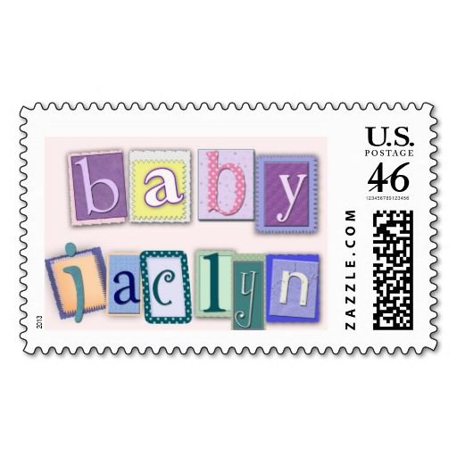 Perfect Custom Block USPS Baby Shower Stamps