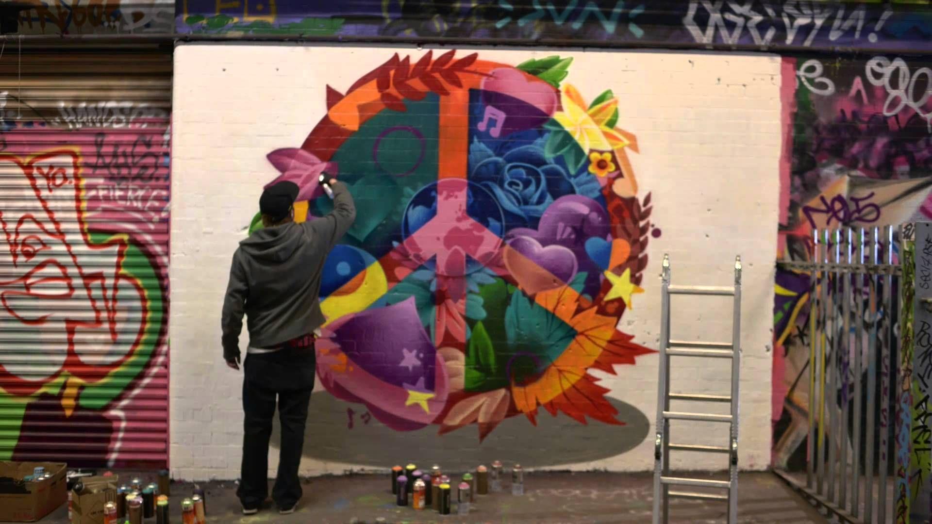 Peace on the streets with graffiti artist smug lynx peace youtube
