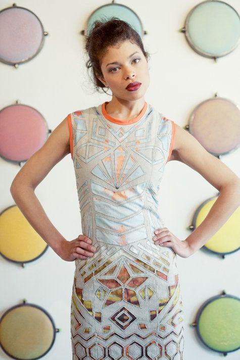 платье с прорезной фактурой | Alabama Chanin love! | Pinterest