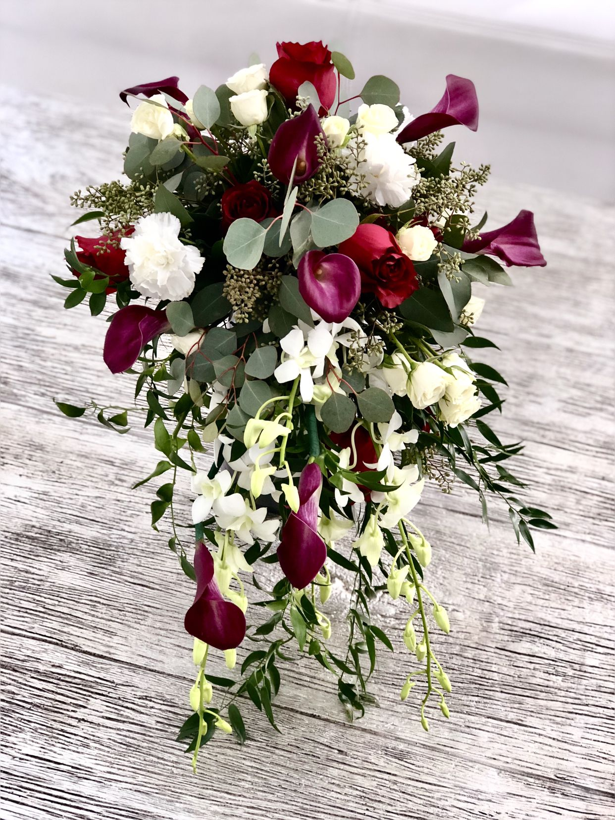 Mauve wedding bouquet Burgundy Black Ivory wedding bouquet Fall bridal bouquet Faux bouquet Halloween wedding Bridal Bouquet
