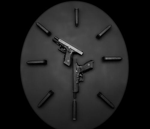 Glock Clock. For The Right Man Room :)