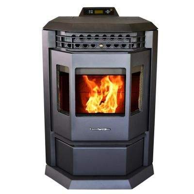 Us Stove Wiseway 2 000 Sq Ft 40 000 Btu Non Electric Gravity Fed Pellet Stove Gw1949 The Home Depot In 2020 Pellet Stove Stove Small Wood Burning Stove