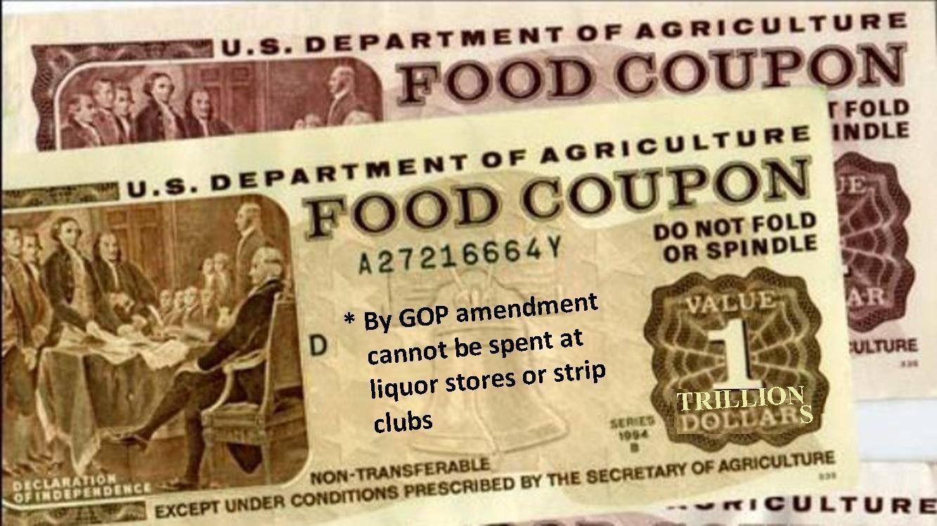 Food coupons food stamps food coupon tie food