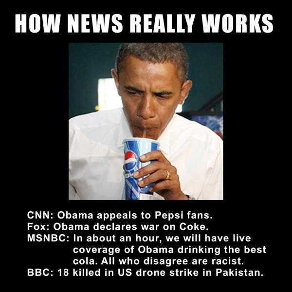How the news works.