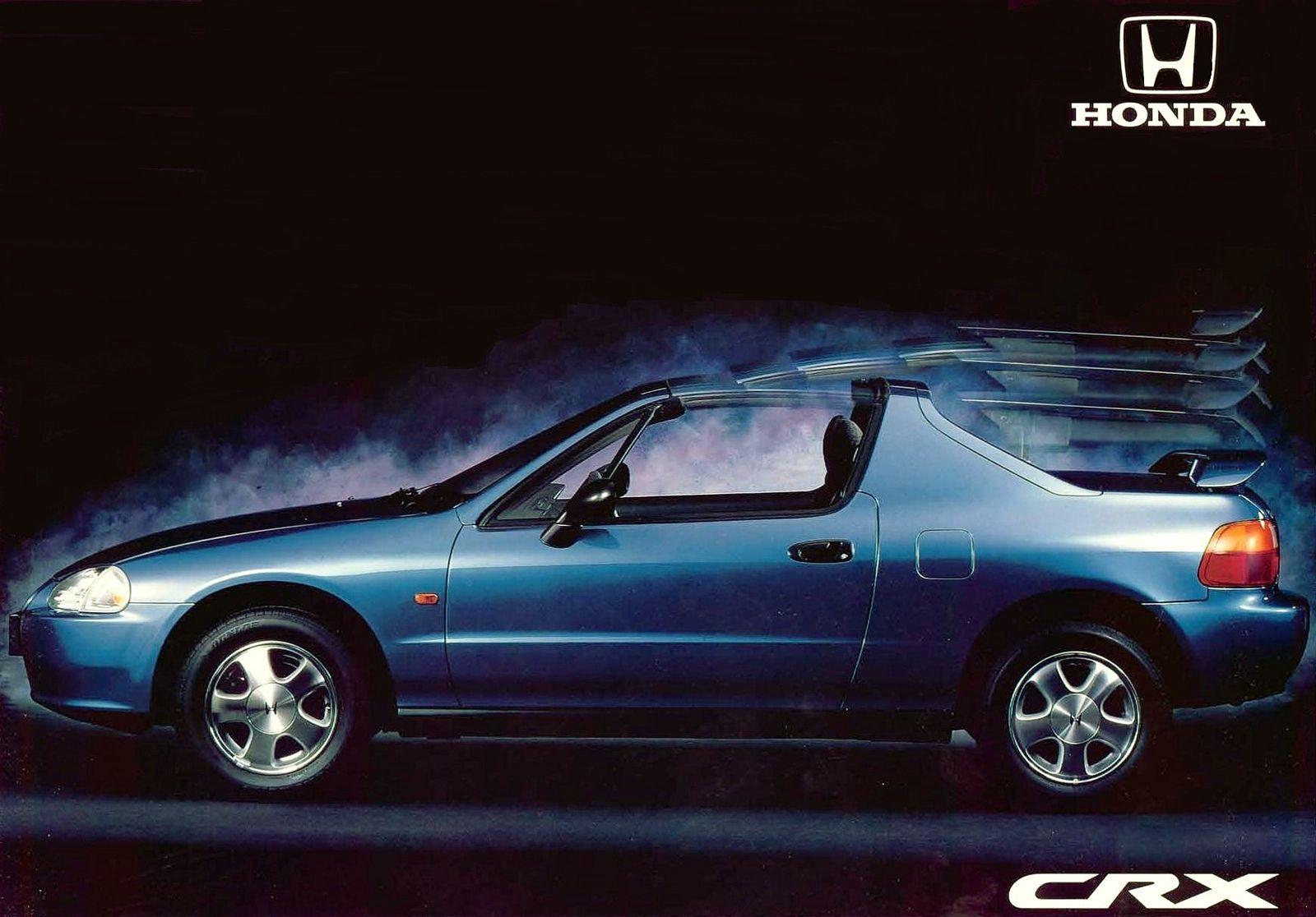 Honda Crx Spain Brochure 1993 Honda Crx Honda Honda Del Sol