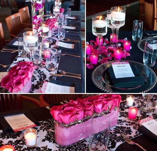 Schwarz Und Pink Hochzeitsthema Idee Daikota Sweet Occasions