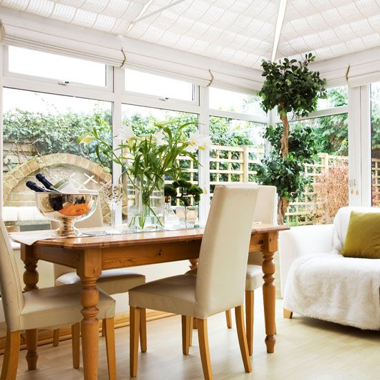 10 Ways To Use A Conservatory Conservatory Dining Room Pine Dining Table Conservatory Interiors