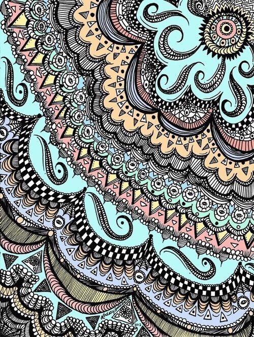 Image Via We Heart It Art Arte Blue Boho Desing Girly Henna