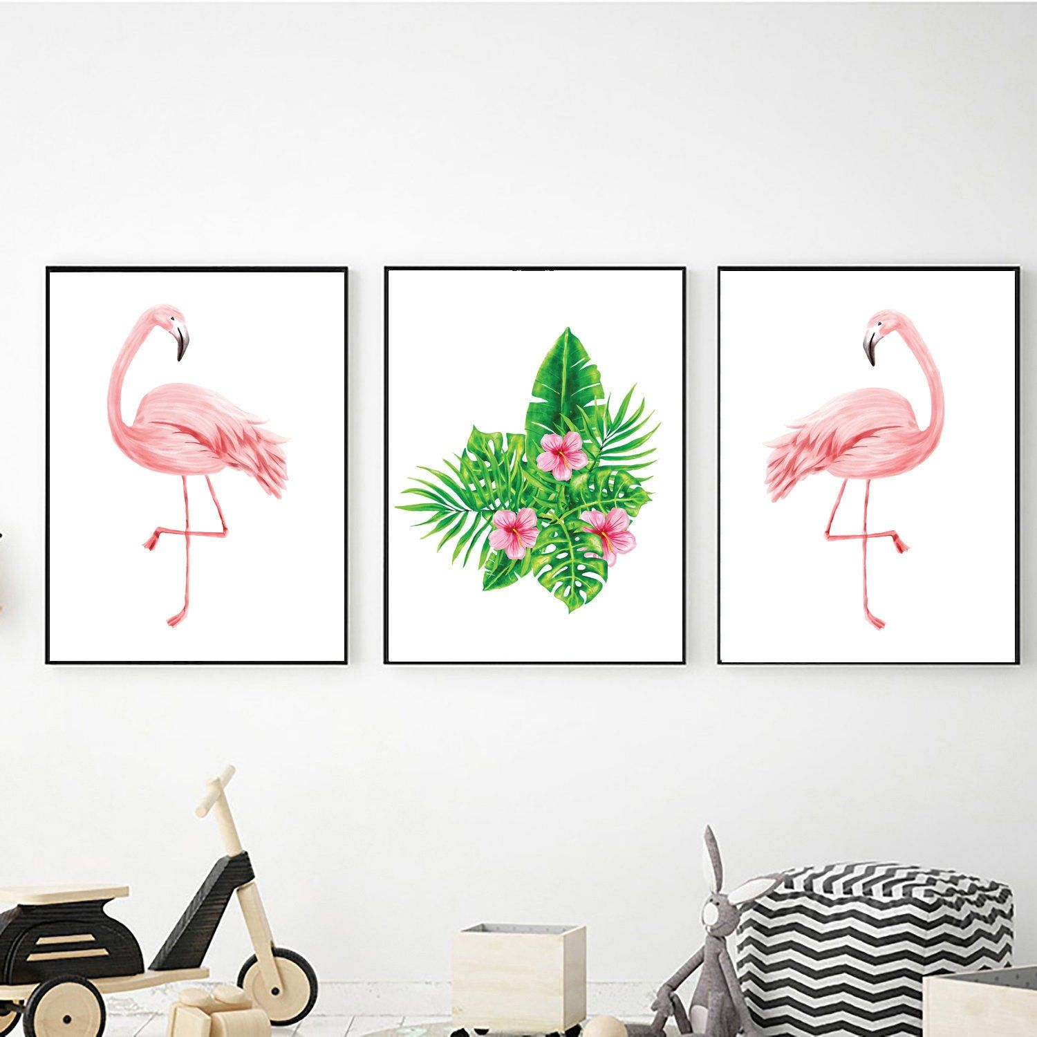Tropical Prints Digital Download Flamingo Wall Art Printable Wall Art Tropical Poster Tropical Lea Flamingo Wall Art Palm Tree Wall Art Printable Wall Art
