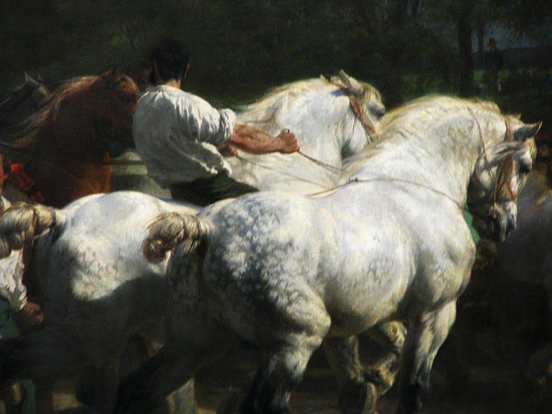 """The Horse Fair"" (detail) -- 1852-55 -- Rosa Bonheur -- French -- Oil on canvas -- The Metropolitan Museum of Art"