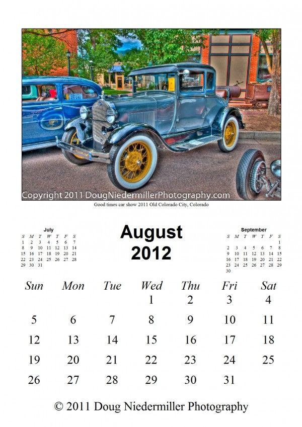 Free Vintage Car Calendar Free Stuff Pinterest Cars - Colorado car show calendar