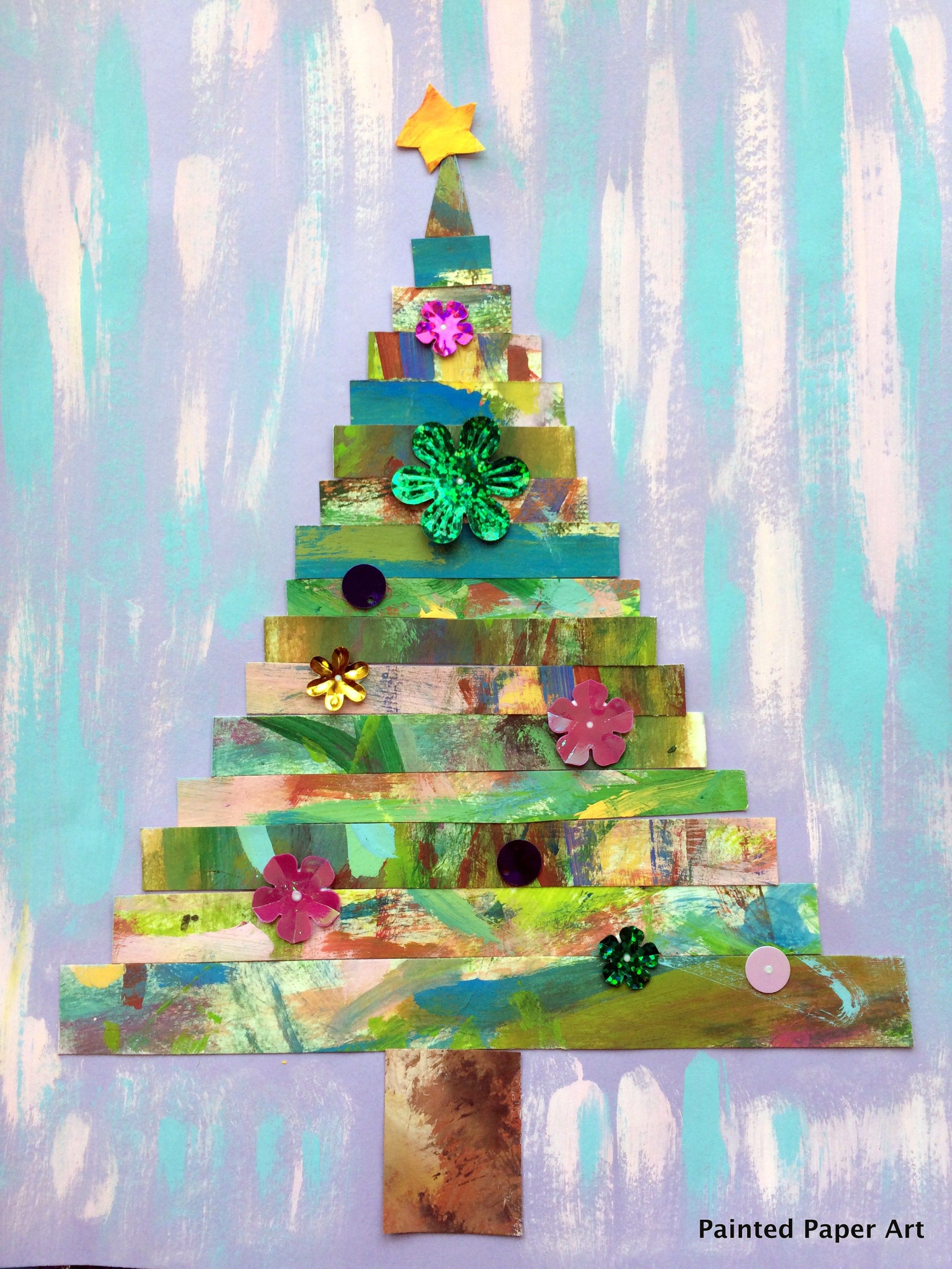 Painted Paper Art Holiday Entertaining Decor Crafts Ideas