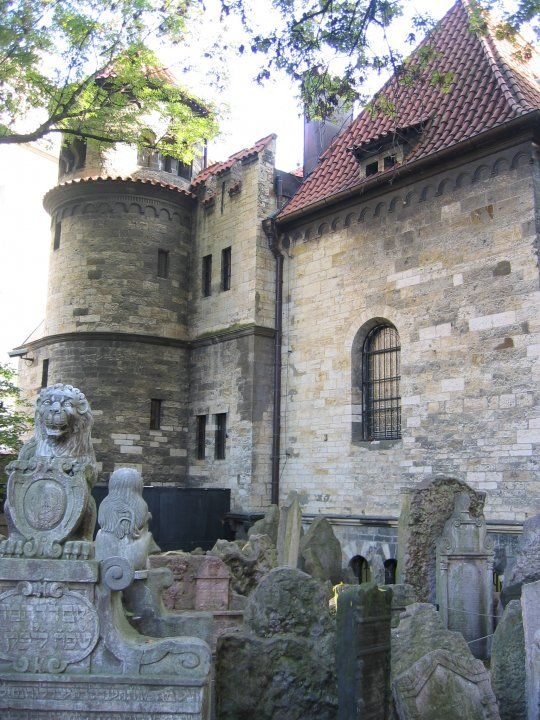 The Ceremonial Hall of the Burial Society. The Prague Jewish quarter - Old Jewish Cemetery