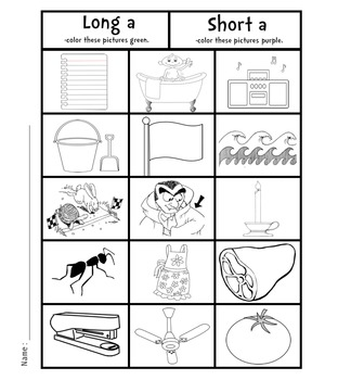Color For Fun Long Vowels Color Worksheets Coloring Books Coloring Pages