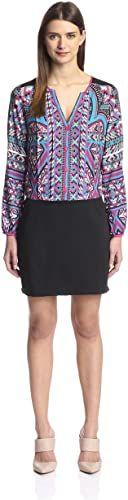 Amazing offer on Hale Bob Women's Print Top Dress online #backlesscocktaildress