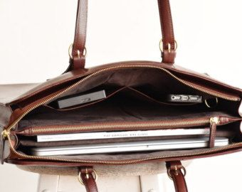 Laptop bags for women Leather laptop bag by TheLeatherExpert
