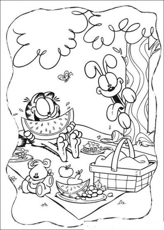 Garfield And Friends Coloring Pages PIcture 3 550x770 picture ...