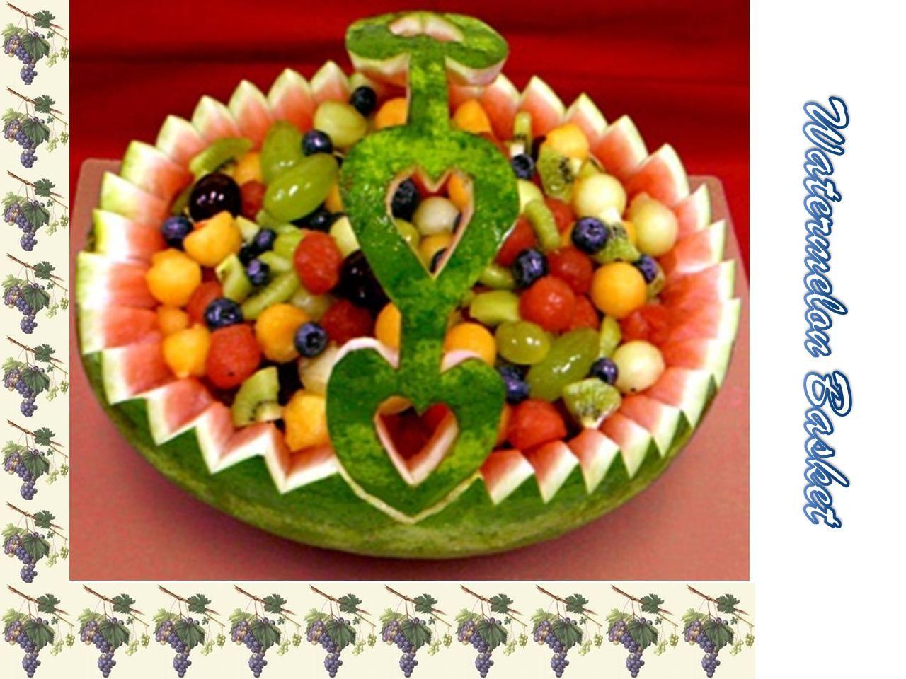 Watermelon Basket   Fruit basket watermelon, Fresh fruit ...