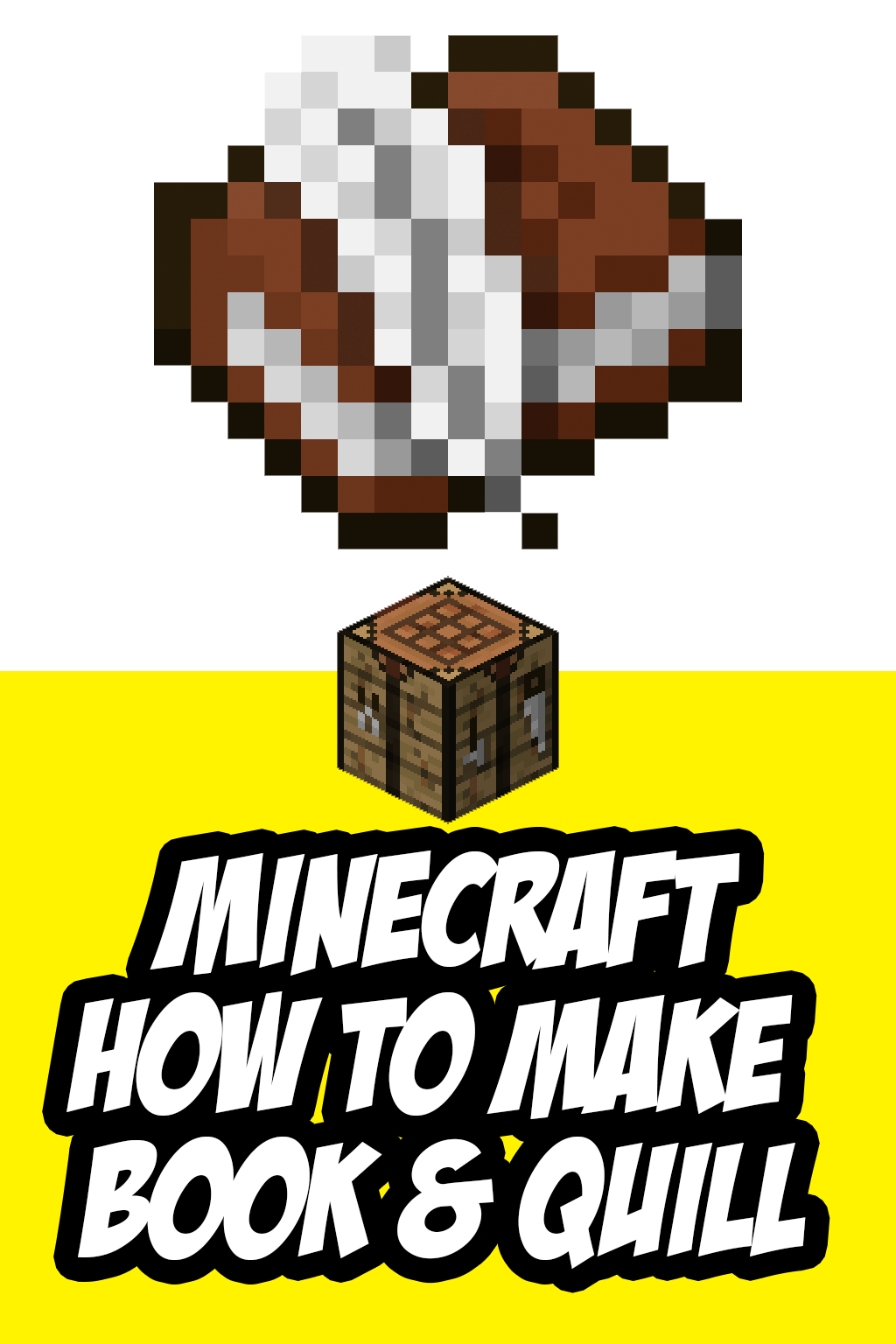 How To Make A Book And Quill In Minecraft Book Making Quilling Minecraft