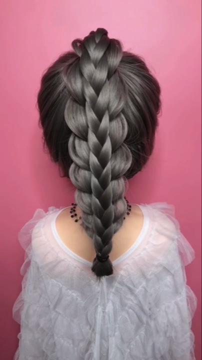 Braided Hairstyle For Long Hair Video Tutorial Simple And Beautiful In 2020 Braids For Long Hair Hair Videos Hair Styles