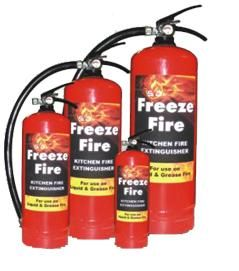 Freeze Fire Kitchen Fire Extinguisher Is Extremely Effective On