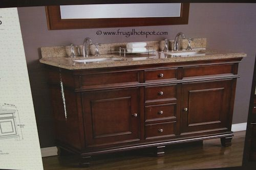 Update Costco Has The Mission Hills Wood Vanity Double Sink With Brazilian Granite Top On For A Limited Time