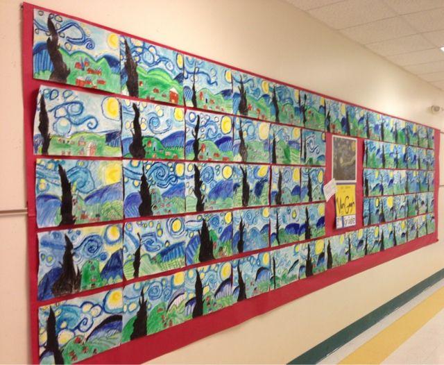 Apex Elementary Art: a very starry night...